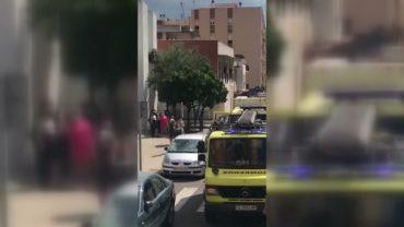 Declarado un incendio en una vivienda frente a la Iglesia del Corpus Christi