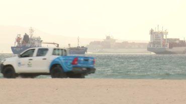 Salvemos Rinconcillo pregunta por los diques que garanticen el futuro de la playa y las Marismas